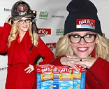 Lending a hand: The View host Jenny McCarthy on Thursday helped out during a holiday food drive in New York City
