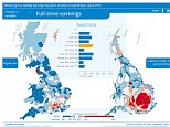 The wage growth map of the UK from the ONS