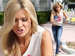 That's embarrassing! Joanna Krupa shatters her perfect facade as she trips and sends her drinks flying... leaving her husband to pick up the pieces