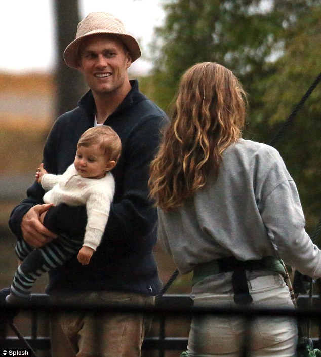 Happy couple: Gisele has been married to her husband, American football player Tom Brady, since 2009