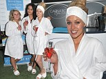 The perfect hangover cure! Jorgie Porter goes make-up free for spa session with costars morning after Hollyoaks Christmas party