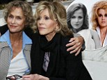 Seventy is the new twenty! Jane Fonda, 75, and Lauren Hutton, 70, look flawless as they party like it is 1974