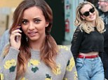 Belly nice: Little Mix's Perrie Edwards shows off a hint of flat tum in cropped jumper