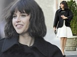 Keeping Up With The Joneses: Felicity Jones perfects chic new look with tousled bob and textured dress