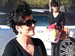 There's Something About Kris! Jenner, 58, suffers an identity crisis in youthful leather pants with flyaway hair to rival Cameron Diaz's famous film 'do