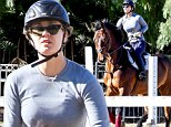 Horsing around! Kaley Cuoco is back in the saddle as she enjoys an equestrian day
