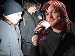 Norman Reedus takes a break from shooting Walkers by hanging out with rockers at Z100's Jingle Ball in New York