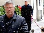 Baldwin angrily walks dogs in snowstorm