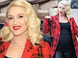 Not long now! Pregnant Gwen Stefani parades her VERY large bump in clingy top and tartan coat to attend Baby2Baby party