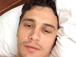 Pulling our leg? James Franco lies shirtless as he claims to have been drugged in a new video posted to his Instagram
