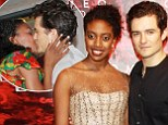 Has love bloomed off-stage? Orlando skips The Hobbit premiere after party to celebrate Romeo & Juliet co-star Condola Rashad's birthday with her parents