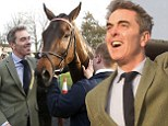 That's my boy! The Hobbit star James Nesbitt can't contain his joy as his horse wins the Peterborough Cup
