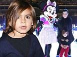 What a treat! Birthday boy Mason Disick can't contain his excitement as mom Kourtney Kardashian takes him to see Disney On Ice