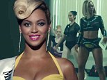 Beyoncé shows off trim waist as she plays a pill-popping beauty queen in music video for Pretty Hurts off her just-released album