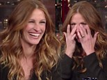 'No!' Julia Roberts slams pregnancy rumours as her friend David Letterman pushes her on her future family plans