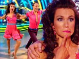 Susanna Reid shows off trim figure in backless pink dress with frilly hem but fails to impress with 'messy' routine on Strictly Come Dancing