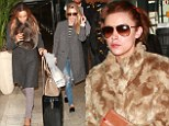 Una Foden leads the way as The Saturdays cut unusually casual figures in comfy outfits to head home after festive gig