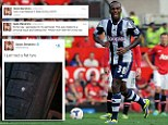 West Brom's Berahino posts foul-mouthed Tweet just minutes after Clarke sacking... but don't worry, it's only a 'flat tyre'!