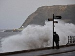 Scarborough, North Yorkshire, is battered by gale force winds