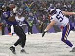Grasp: Baltimore wide receiver Marlon Brown catches the game-winning touchdown with seconds left