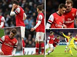 Arsenal woes: Wenger's side were walloped by Man City... are they imploding?