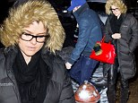 Tender is the Night: Actors Alice Eve and Chris Evans leave a New York City restaurant separately Saturday, but hop into the same waiting SUV