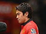 Too much food: Manchester United midfielder Shinji Kagawa had to have his stomach pumped this week