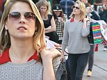 Ali Larter shops at the Grove