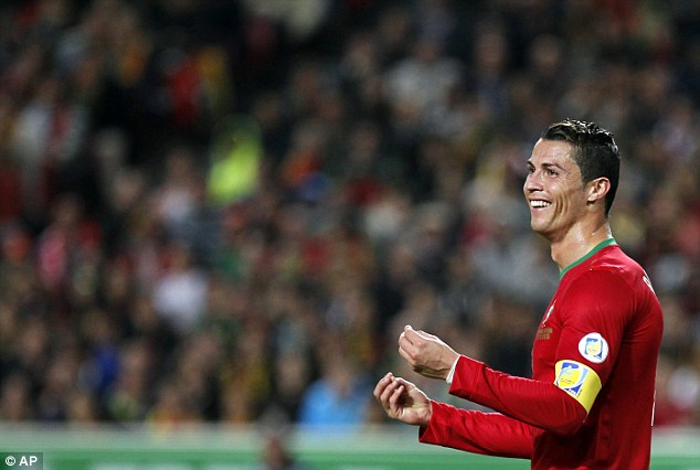 Competition: Cristiano Ronaldo has been at loggerheads with Messi to be recognised as La Liga's best player