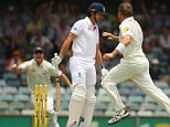 Alastair Cook lost his wicket first ball