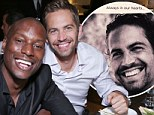'I wished it was your wedding instead': Tyrese Gibson shares his feelings about Paul Walker's funeral as Ludacris uploads order of service to Instagram