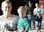 Hilary Duff enjoys a day out with her family on Saturday