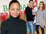 Make-up free Nicole Richie warms up the room in grey sweater as she joins her BFF Jessica Alba at children's charity event