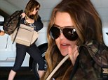 It's over: Khloe Kardashian seen looking thin at an LA gym on Friday just hours before filing for divorce from husband of four years Lamar Odom