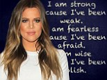 'I am wise because I've been foolish': Khloe Kardashian posts self-empowering message 'just hours before she will file for divorce from Lamar Odom'