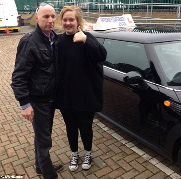 Big plans: Adele is hoping to appear on Top Gear after passing her driving test, according to her instructor Noel Gaughan