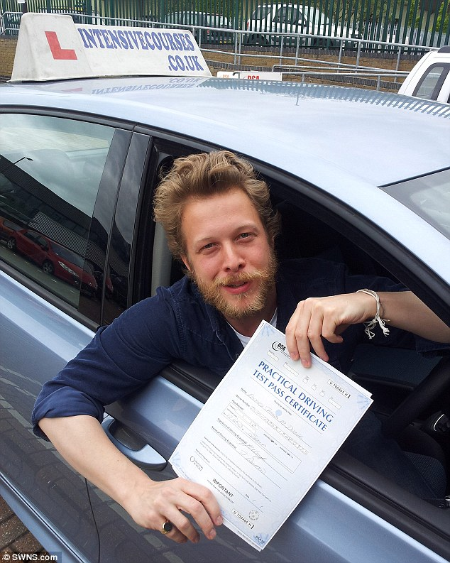 Cool points: Edward Dwane from Mumford And Sons also passed with Noel's help
