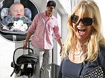 She's an over-excited admirer: Goldie Hawn can't contain her joy at meeting Josh Duhamel and baby Axl for breakfast