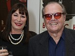 Love through the ages: Hollywood icon Jack Nicholson, flashed his famous smirk as he posed with the lady of the hour, and his on and off again lover, 62-year-old Anjelica