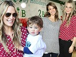 Molly Sims with son Brooks and Jessica Alba