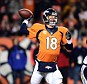 Man of the hour: Denver Broncos quarterback Peyton Manning (18) passes Thursday night in the third quarter against the San Diego Chargers