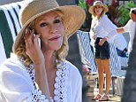 In the sunshine: Actress Melanie Griffith films scenes for the TV show Hawaii Five-0