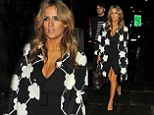 Taking the plunge: Caroline Flack leaves the X Factor wrap party at One Marylebone