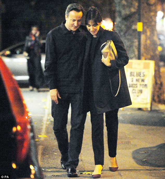 Prime Minister David Cameron and his wife Samantha go out for a curry in Birmingham to celebrate his 46th birthday last year