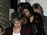 Romance: Niall Horan and rumoured girlfriend Barbara Palvin seen leaving the X Factor wrap party