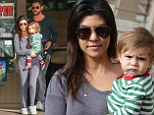 Just roll out of bed? Kourtney Kardashian goes ultra casual in comfy slippers and sleepwear to grab lunch with her family