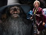Top spot: Sir Ian McKellen returned as the wizard Gandalf in The Hobbit: The Desolation of Smaug that finished number one on Sunday at the weekend box office