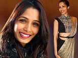 That's snow business! Freida Pinto is chic in Chanel jacket to hit the slopes before wowing in a traditional sari