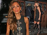 Job done! Nicole Scherzinger celebrates in a minidress and gladiator heels after helping Sam Bailey get to the X Factor final with stunning duet