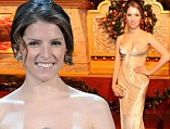 She's Pitch Perfect! Anna Kendrick is toast of the town in champagne-hued dress for Christmas in Washington performance